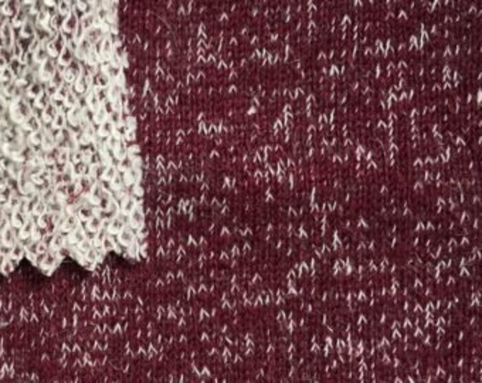 Hemp/ Organic Cotton Yarnd Dyed French Terry in Merlot by Pickering