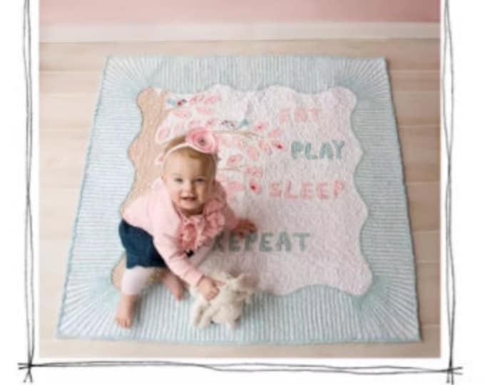Eat, Sleep, Play, Repeat Quilt from Chenille-It - Paper Pattern