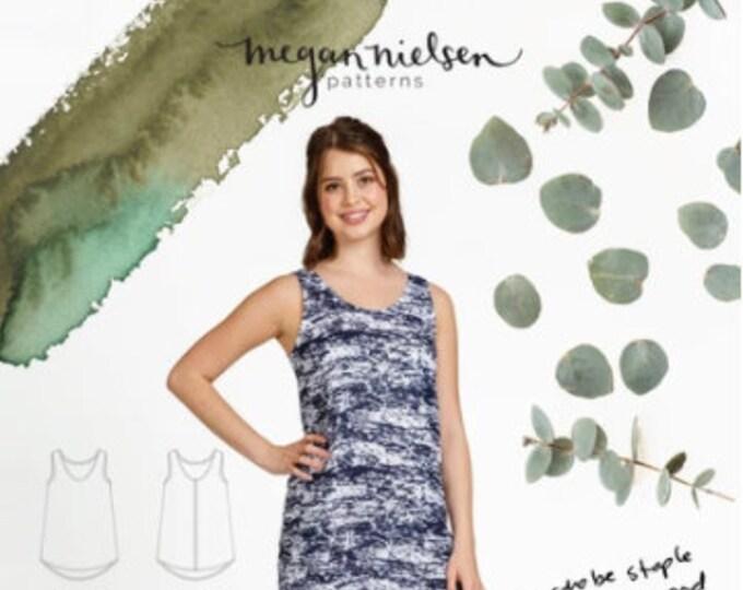 Eucalypt Woven Tank Top and Dress Paper Pattern- Megan Nielsen Patterns