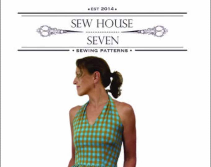 The Rose City Halter Dress Paper Pattern by Sew House Seven