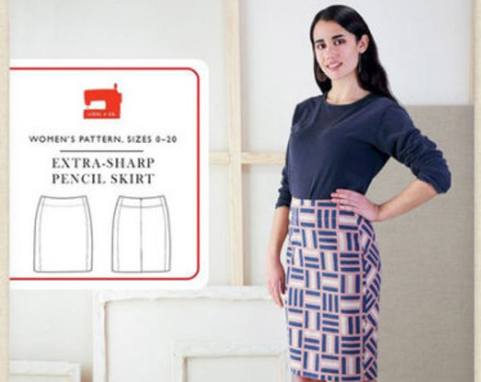 Extra-Sharp Pencil Skirt Paper Pattern, Size 0-20, from Liesl + Co.