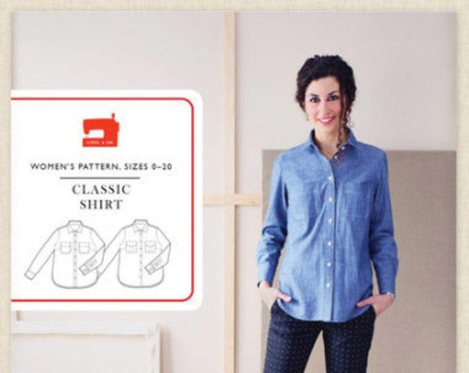 Classic Shirt Paper Pattern, Women's Size 0-20, from Liesl + Co.