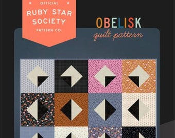 Obelisk Quilt Paper Pattern By Ruby Star Society