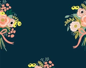 Bouquets  (navy fabric) from English Garden by Rifle Paper Co.