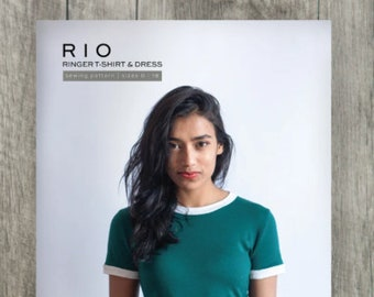 Rio Ringer T-Shirt and Dress Paper Pattern by True Bias