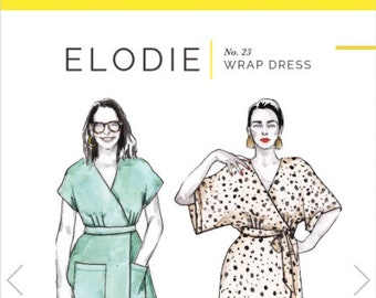 Elodie Wrap Dress Paper Pattern - Closet Core Patterns
