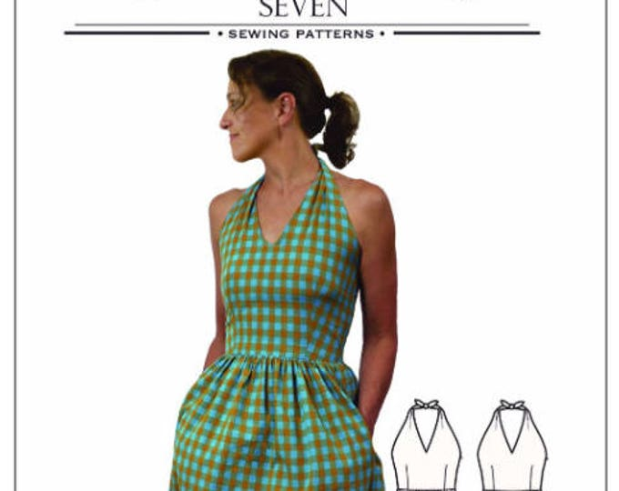 Rose City Halter Dress by Sew House Seven