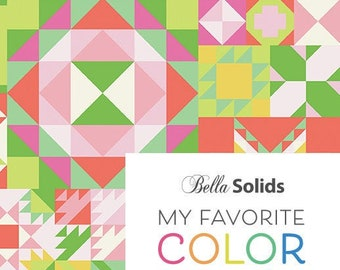 My Favorite Color is Moda Quilt Pattern Project Sheet from Moda Fabrics
