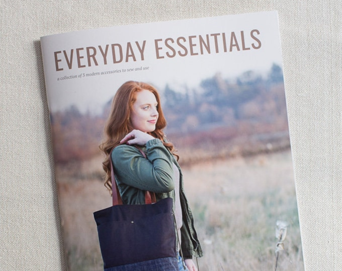 Everyday Essentials: a collection of 3 modern accessories to sew and use from Noodlehead