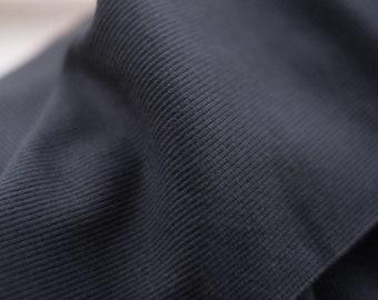 Cotton Rib in Black by Merchant & Mills