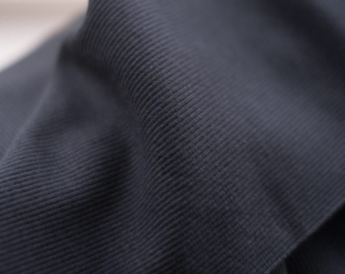 Cotton Rib in Black by Merchant & Mills