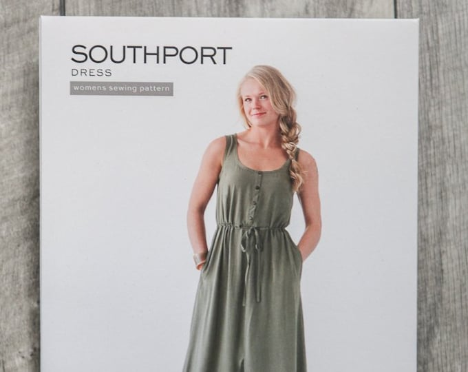 Southport Dress Paper Pattern by True Bias