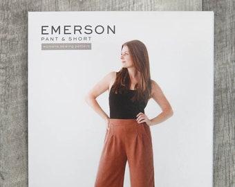 Emerson Pant + Short Paper Pattern by True Bias