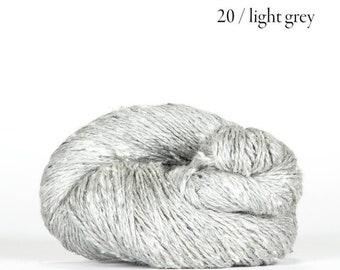 Sarah Tweed in Light Gray by BC Garn