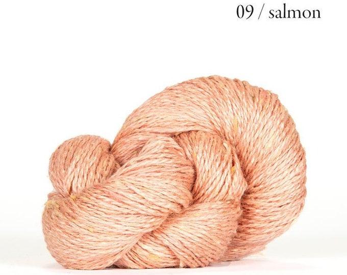Sarah Tweed in Salmon by BC Garn