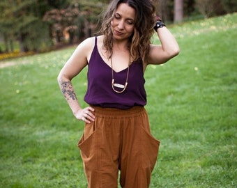 Arenite Pants Paper Pattern by Sew Liberated