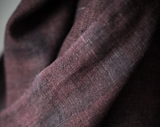 Crushed Damson EU Laundered Linen by Merchant & Mills