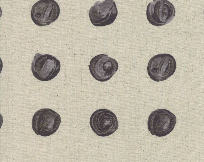 Snowballs in Linen Charcoal from the Chill Mochi Collection by Moda Fabrics