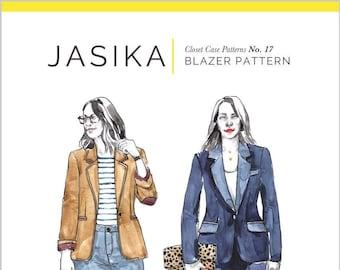 Jasika Blazer Paper Pattern - Closet Core Patterns