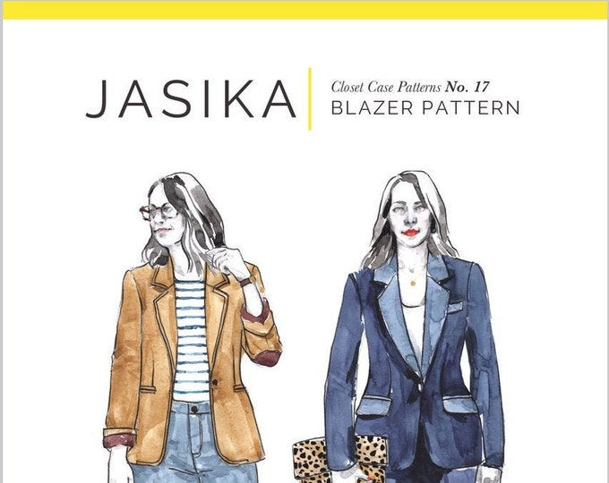 Jasika Blazer Paper Pattern - Closet Core Patterns
