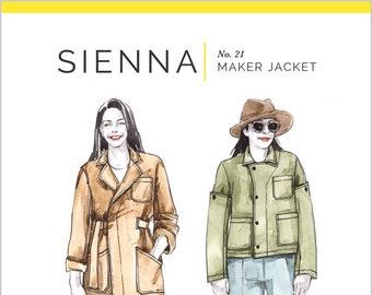 Sienna Maker Jacket Paper Pattern- Closet Case Patterns
