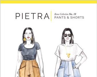 PIETRA Pants & Shorts Paper Pattern - Closet Core Patterns
