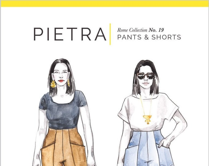 PIETRA Pants & Shorts Paper Pattern - Closet Core Patterns