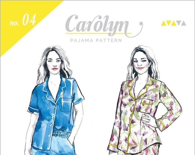 Carolyn Pajamas Paper Pattern - Closet Case Patterns