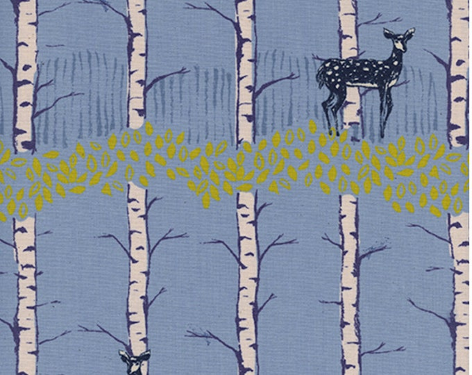 Fawn Forest in blue from Frost by Sarah Watts for Cotton + Steel