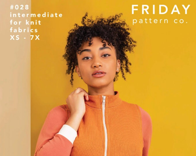 The Arlo Track Jacket Paper Pattern by Friday Pattern Company