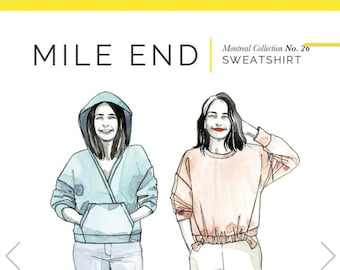 Mile End Sweatshirt Paper Pattern - Closet Core Patterns