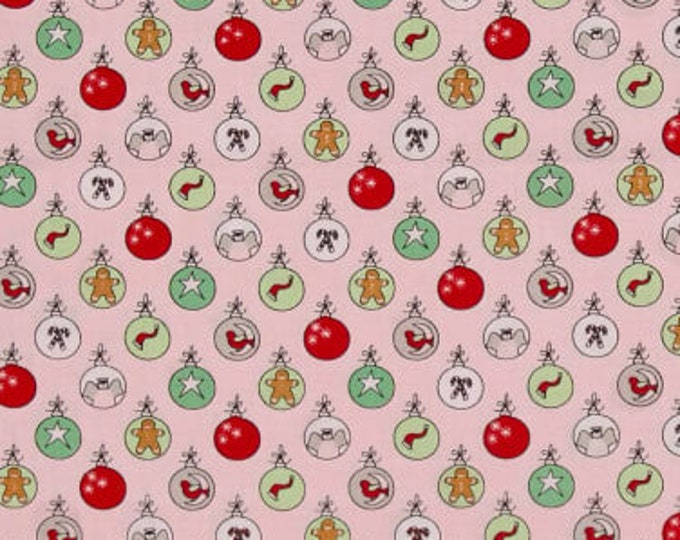 Sugar Plum Christmas - Shiny Brights in Sugar Plum Pink for Moda Fabrics