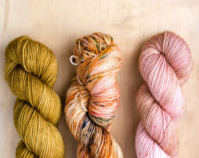 Fade Kit:  Merino DK - Gold/Pink