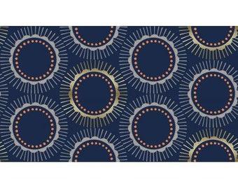 Tara in Navy Metallic for the Kibori Collection by Cotton + Steel