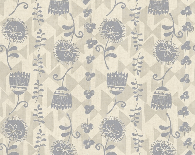 Ohana Katen in Neutral Unbleached Cotton Fabric from Mori No Tomodachi by Cotton + Steel