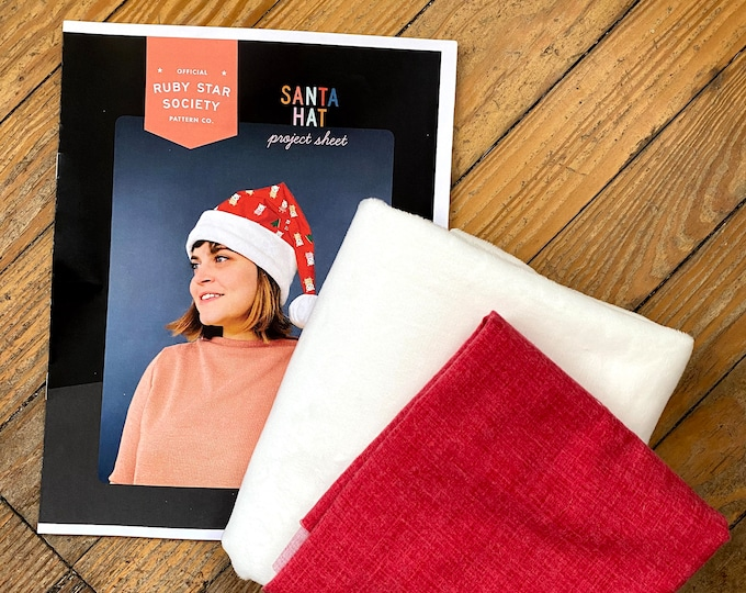 Flurry Santa Hat Kit with Project Pattern Sheet from Ruby Star Society