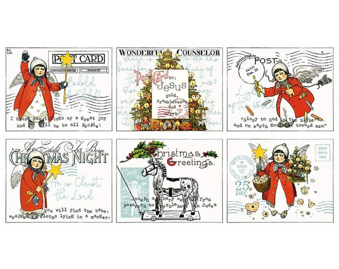 """All About Christmas Placemat Panel by Riley Blake - 24""""x43"""" Panel"""