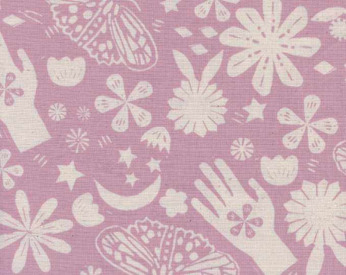 PRESALE: Dream (in Lilac) from Moonrise by Alexia Abegg for Cotton + Steel Unbleached Cotton Fabric