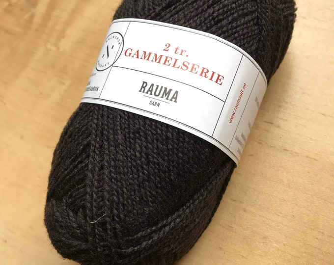 2 Ply Gammelserie in Dark Brown by Rauma