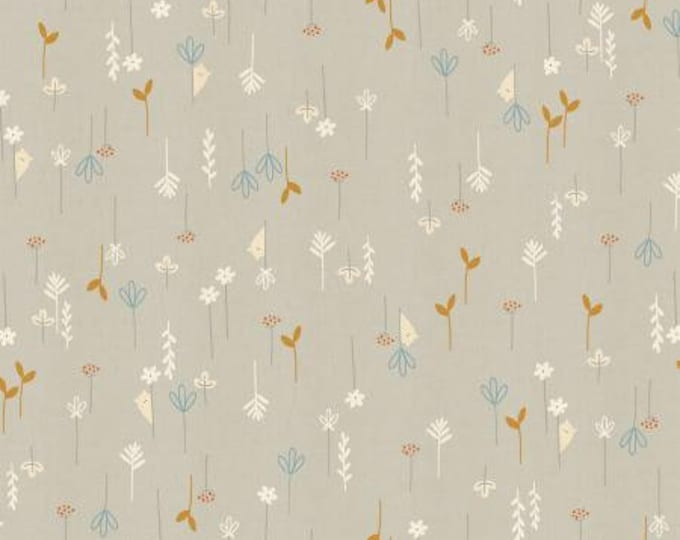 Hide and Seek in Pebble Unbleached Metallic Cotton Fabric from the Dear Friends Collection for Cotton + Steel