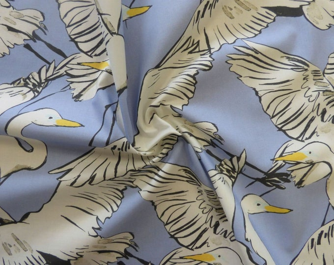 Wild Goose Chase in Blue Cotton Marlie Lawn