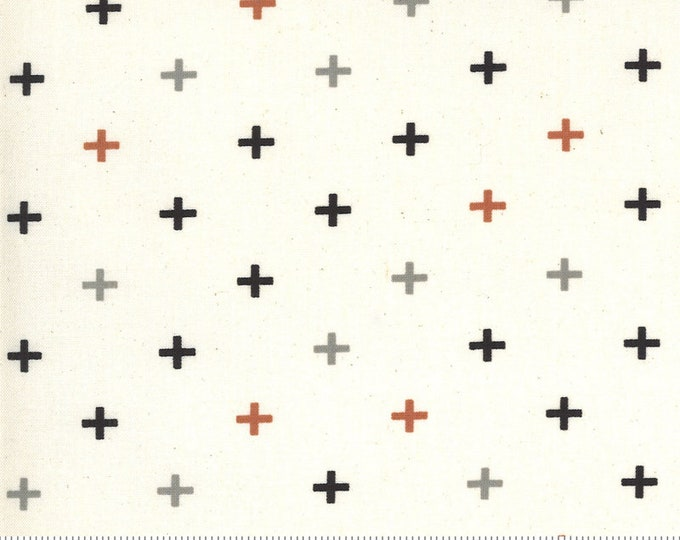 Plus in Flax from the Smoke Rust Collection by Moda Fabrics Fabrics