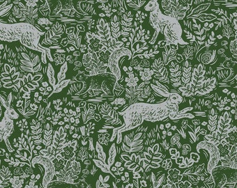 Fable in Leaf Canvas for Wildwood Collection by Rifle Paper Co.