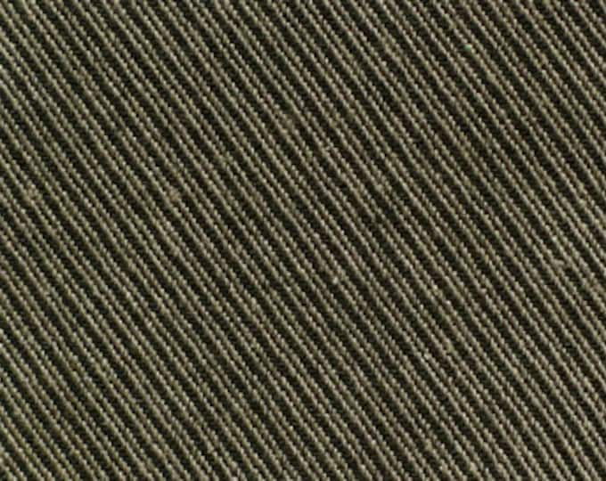 100% Organic Cotton Textured Twill in Gray/Black by Pickering