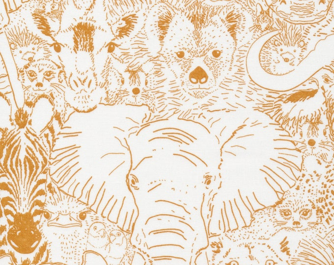 Wild Thing in Gold 100% Organic Cotton from the Grasslands Collection by Cloud 9