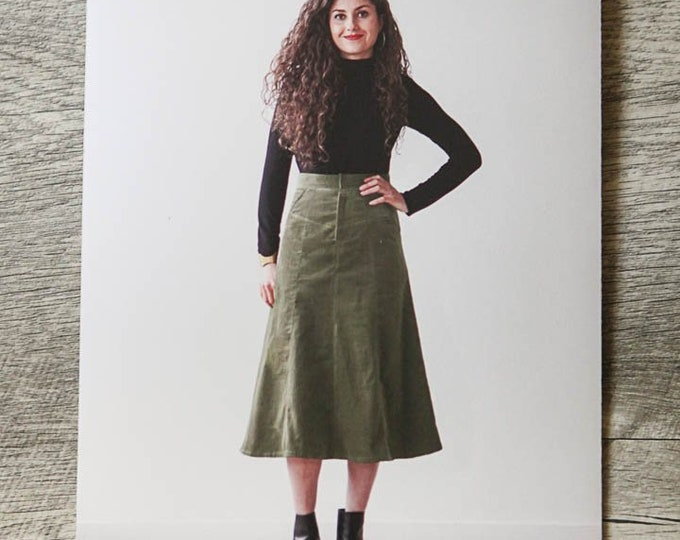 Garment Sewing KIT: The Salida Skirt by True Bias with Navy Corduroy