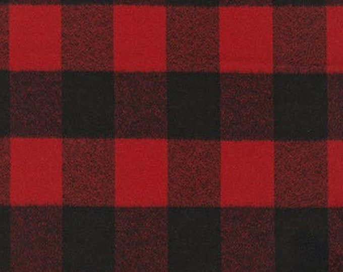 Mammoth Flannel in Red and Black by Robert Kaufman