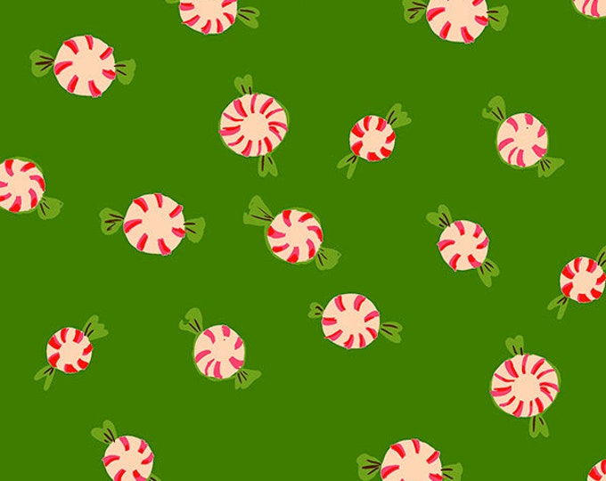 Peppermints in Green for the Sugarplum Collection by Heather Ross for Windham Fabrics