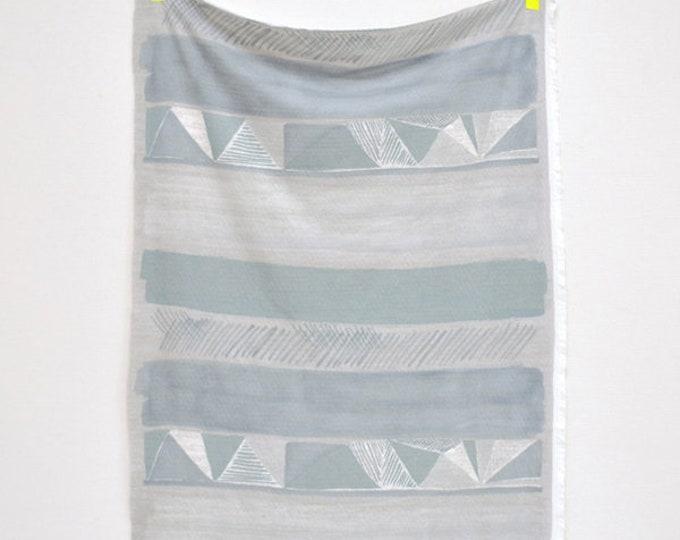 Herring Bone Pencil Knit in Silver-Blue by Nani Iro