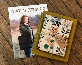 Wool + Wax Tote Kit: Rifle Paper Canvas + Waxed Canvas